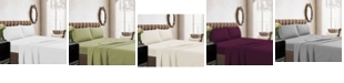 Tribeca Living 350 Thread Count Cotton Percale Extra Deep Pocket Full Sheet Set