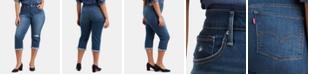 Levi's Plus Size Ripped Cuffed Capri Jeans