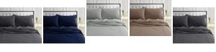 Tribeca Living 170-GSM Ultra-Soft Cotton Flannel Solid Extra Deep Pocket Twin XL Sheet Set