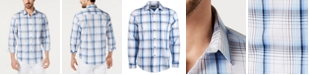 Alfani Men's AlfaTech Stretch Graphic Plaid Shirt, Created for Macy's