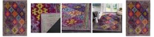 "Safavieh Monaco Purple and Multi 5'1"" x 7'7"" Area Rug"