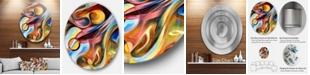 """Design Art Designart 'Music Beyond The Frames' Music Circle Metal Wall Art - 23"""" x 23"""""""
