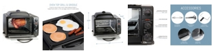 Elite by Maxi-Matic Elite Cuisine 0.8' Multi - function Toaster Oven with Rotisserie and Grill, Griddle Oven Top