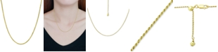 """Giani Bernini Rope Chain Adjustable 22"""" Necklace, Created for Macy's"""
