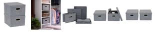 Household Essentials 2-Pc. Graphite Storage Box Set