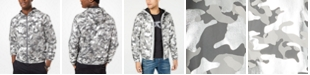 Michael Kors Men's Metallic Camouflage Hooded Jacket