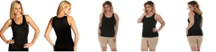 Instaslim InstantFigure Shirred Bust Tank Top with High Back, Online Only