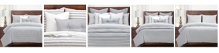 Siscovers Farmhouse Pewter Striped 6 Piece Cal King High End Duvet Set