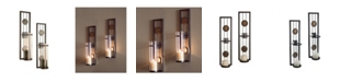 Danya B Set of Two Contemporary Metal Wall Sconces