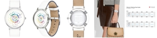 COACH Women's Perry White Leather Strap Watch 36mm, Created for Macy's