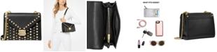 Michael Kors Whitney Studded Leather Shoulder Bag