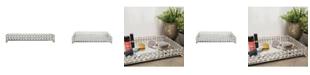 Brewster Home Fashions Yasmine Medium Silver Bling Rectangular Tray