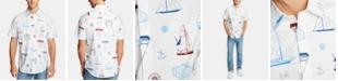 Nautica Men's Blue Sail Oxford Printed Shirt, Created for Macy's