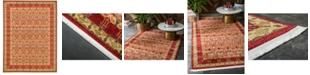 "Bridgeport Home Orwyn Orw3 Red/Tan 12' 2"" x 16' Area Rug"