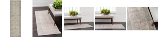 """Bridgeport Home Bellmere Bel3 Gray 2' 7"""" x 10' Runner Area Rug"""
