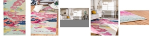 Bridgeport Home Newwolf New4 Pink 5' x 8' Area Rug