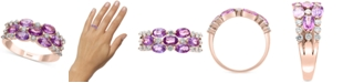 EFFY Collection EFFY® Purple Sapphire (1-7/8 ct. t.w.) & Diamond (1/3 ct. t.w.) Statement Ring in 14k Rose Gold