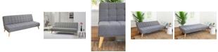 Furniture Jax Convertible Sofa Futon, Quick Ship