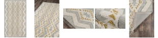 "Novogratz Collection Novogratz Indio Ind-1 Gray 2'3"" x 7'10"" Runner Area Rug"