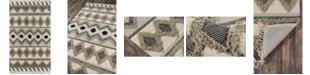 """Novogratz Collection Novogratz Indio Ind-4 Sage 2'3"""" x 7'10"""" Runner Area Rug"""