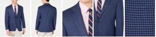 Tommy Hilfiger Men's Modern-Fit THFlex Stretch Blue/Red Check Sport Coat