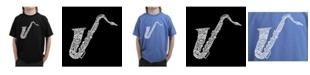 LA Pop Art Big Boy's Word Art T-Shirt - Sax