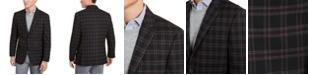 Tommy Hilfiger Men's Modern-Fit THFlex Stretch Wine/Black Plaid Sport Coat