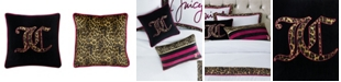"Juicy Couture Velvet Cheetah Logo 20"" x 20"" Throw Pillow"