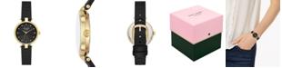 kate spade new york Women's Annadale Black Leather Strap Watch 30mm