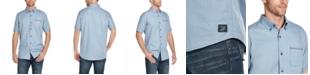 Weatherproof Vintage Men's Slub Woven Short Sleeve Shirt