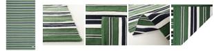 Lauren Ralph Lauren Leopold Stripe LRL2462K Green 5' X 8' Area Rug
