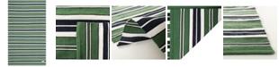 Lauren Ralph Lauren Leopold Stripe LRL2462K Green 9' X 12' Area Rug