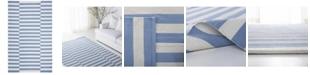 Lauren Ralph Lauren Ludlow Stripe LRL7350B Chambray 5' X 8' Area Rug