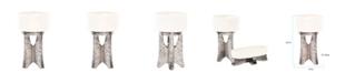 Howard Elliott White Ceramic Vase on Hammered Silver Base