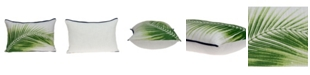 Parkland Collection Areca Tropical Green Pillow Cover With Down Insert