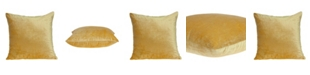 Parkland Collection Danbury Transitional Yellow Solid Pillow Cover