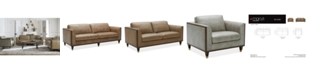 Furniture CLOSEOUT! Reavere Leather Sofa Collection