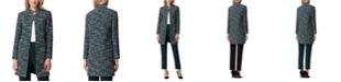 Tahari ASL Stand-Collar Tweed Topper Jacket