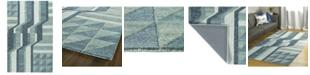 "Kaleen Alzada ALZ02-17 Blue 5' x 7'9"" Area Rug"