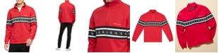 Calvin Klein Jeans Men's Logo Quarter-Zip Sweatshirt