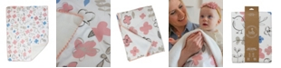 Lolli Living Mazie Sherpa Lined Floral Baby Blanket