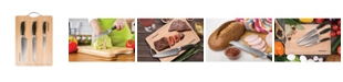 "MasterPan MasterLon 3-Pc Knife Set with Bamboo Cutting Board 8"""