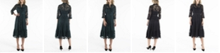 nanette Nanette Lepore 3/4 Sleeve Shirtdress with Contrast Fabric