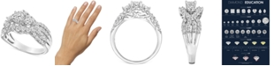 Macy's Diamond Cluster Openwork Engagement Ring (1-1/2 ct. t.w.) in 14k White Gold