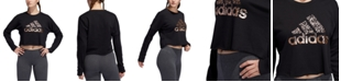 adidas Metallic-Logo Sweatshirt