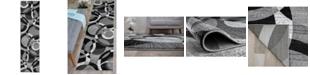 """Main Street Rugs Montane Mon105 Gray 2' x 7'2"""" Runner Rug"""