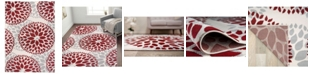 Main Street Rugs Home Haven Hav9099 Red 5' x 7' Area Rug