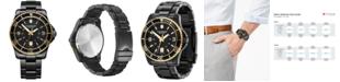 Victorinox Swiss Army Men's Maverick Black PVD Stainless Steel Bracelet Watch 43mm