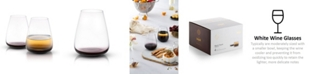 JoyJolt Black Swan Stemless White Wine Glasses Set of 4