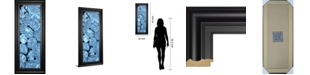 "Classy Art Blue Peonies I by Melissa Wang Framed Print Wall Art, 18"" x 42"""